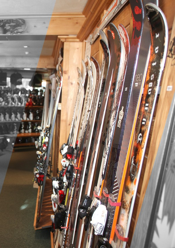 Vente de skis à Courchevel