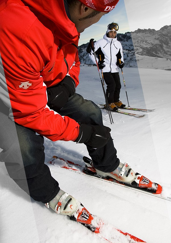 Boot-fitting workshop in Courchevel