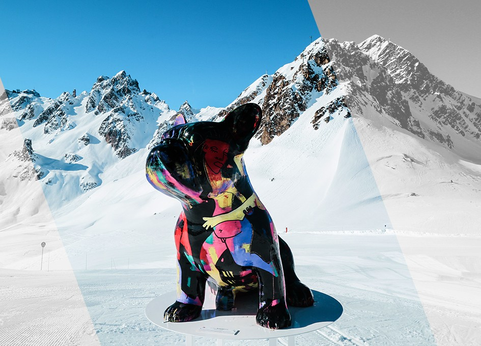 Winter sports equipment in Courchevel